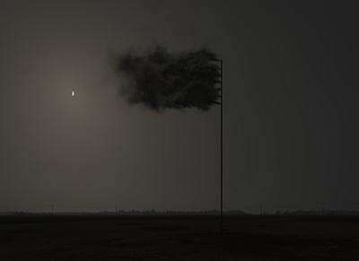 Western Flag (Spindletop, Texas), 2017  By John Gerrard