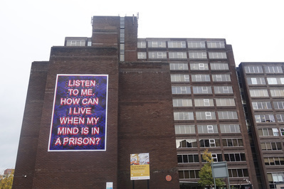 Listen to me. How can I live when my mind is in a prison, 20... By Mark Titchner
