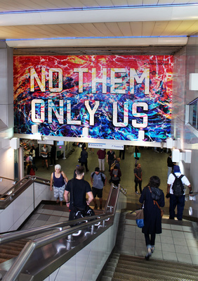 No them only us, 2016 By Mark Titchner