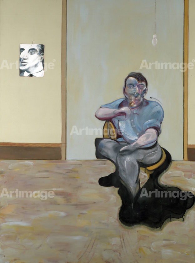 Three Portraits. Posthumous Portrait of George Dyer, Self-Portrait, Portrait of Lucian Freud, 1973 (right panel)
