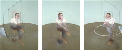 Three Studies for a Portrait of John Edwards, 1984 By Francis Bacon