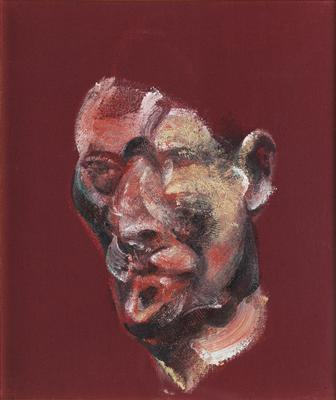 Three Studies for Portrait of Lucian Freud, 1965 (right pane...