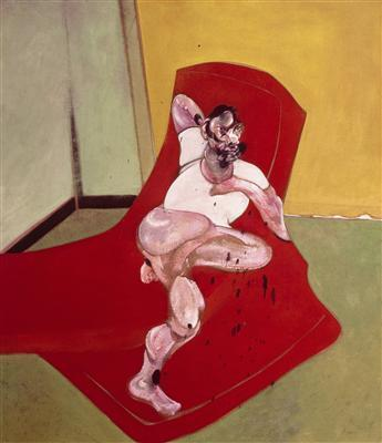 Double Portrait of Lucian Freud and Frank Auerbach, 1964 (le... By Francis Bacon