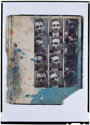 Photo-booth portraits of Francis Bacon, George Dyer and Davi...