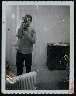 Self-portrait with Polaroïd, c. 1970