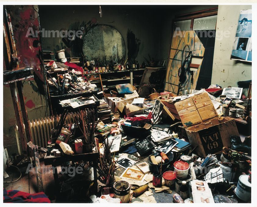 Enlarged version of Francis Bacon's 7 Reece Mews studio, London, 1998