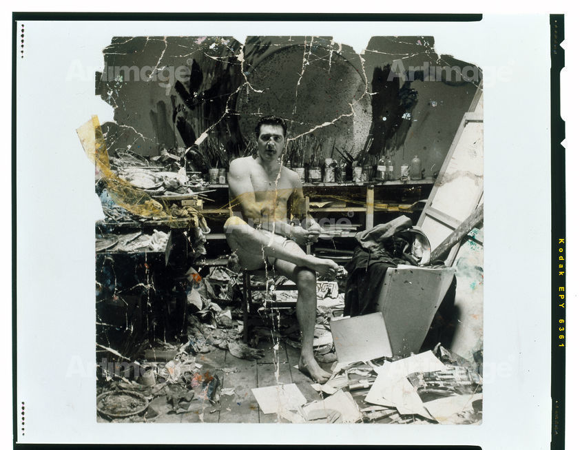 Enlarged version of George Dyer Seated in Underwear in Francis Bacon's Studio, c. 1965