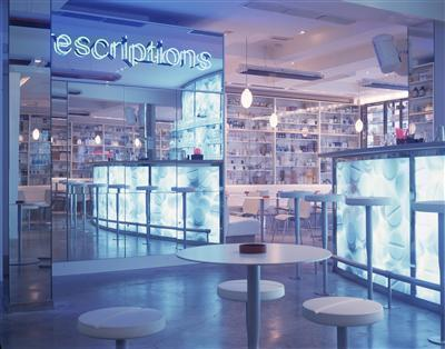 Pharmacy, Notting Hill Gate, London, 1998 (interior)
