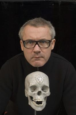 Portrait of the artist with For the Love of God, 2007