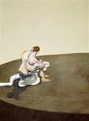 Three Figures in a Room, 1964 (left panel) By Francis Bacon