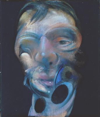 Three Studies for Self-Portrait, 1975 (centre panel) By Francis Bacon