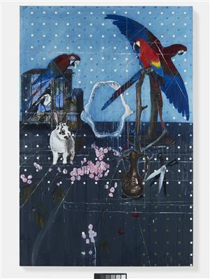Three Parrots with Rabbit and Scissors, 2010