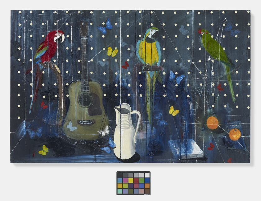 Three Parrots with Guitar and Jug, 2010-2012