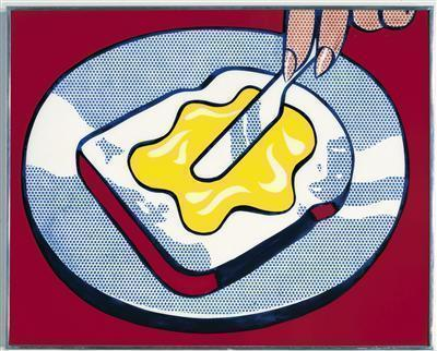 Mustard on White, 1963 By Roy Lichtenstein