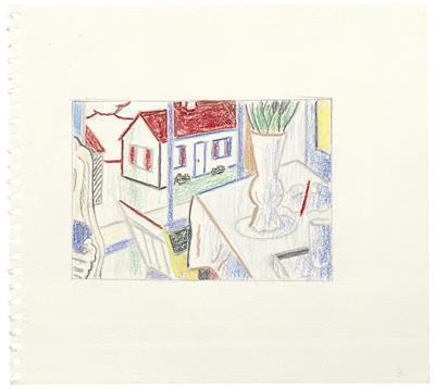 Interior with House out the Window (Study), 1997