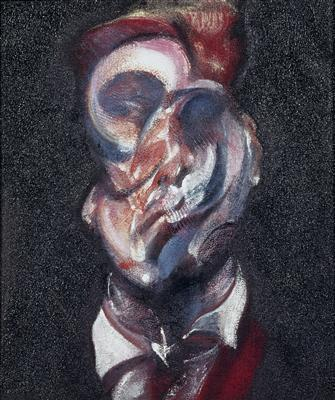 Three Studies of George Dyer, 1966 (centre panel)  By Francis Bacon