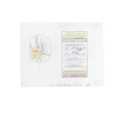 Flower with Bamboo and Landscape in Scroll (Studies), 1996