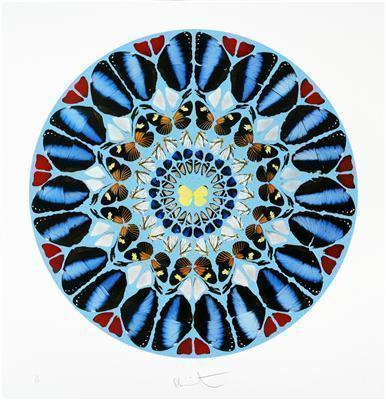 Psalm Print: Ad te, Domine, levavi, 2010 (diamond dust)  By Damien Hirst