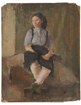 Portrait of Girl on Board, 1945
