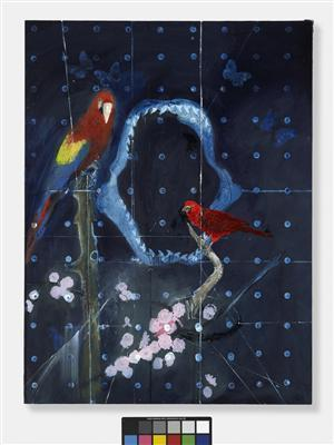 Red Bird and Parrot with Shark Jaw, 2008 - 2010