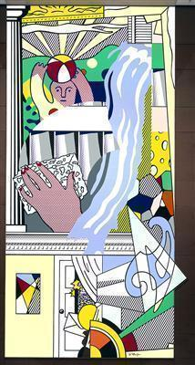 Mural with Blue Brushstroke, 1986 By Roy Lichtenstein