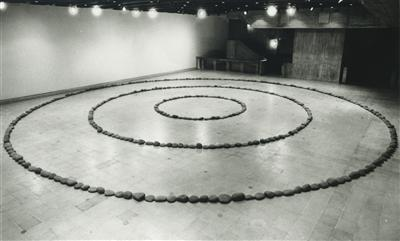 Three Circles of Stones, 1972 By Richard Long