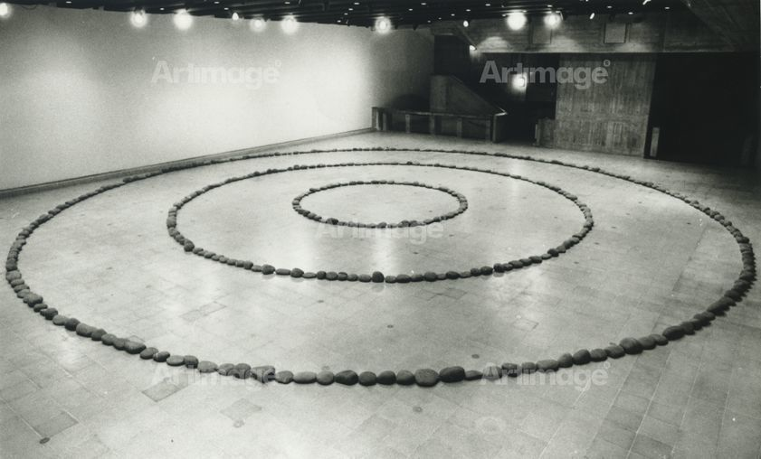 Enlarged version of Three Circles of Stones, 1972