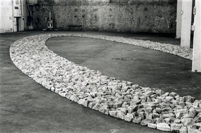 Antibes Ellipse, 1999 By Richard Long