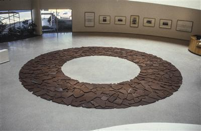 Red Slate Circle, 1986 By Richard Long