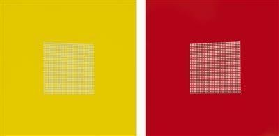 After Malevich 25 & 0 pair, 2012 By Tess Jaray