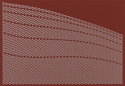 Field, Red with 5 lines, 2011 By Tess Jaray