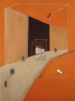 Statue and Figures in a Street, 1983 By Francis Bacon