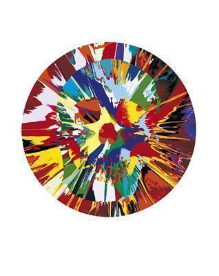Beautiful Helios Hysteria Intense Painting (with Extra Inner... By Damien Hirst