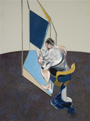 Three Studies of the Male Back, 1970 (centre panel) By Francis Bacon