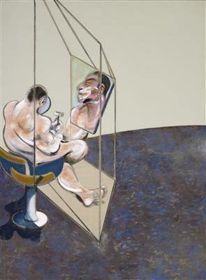 Three Studies of the Male Back, 1970 (left panel) By Francis Bacon