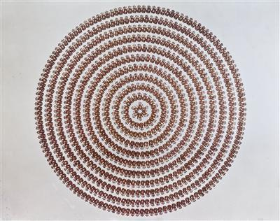 River Avon Mud Hands Circle, 1991 By Richard Long