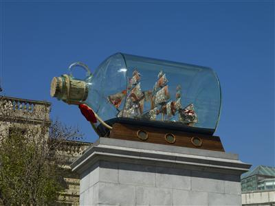 Nelson's Ship in a Bottle, 2010 (Installation view, Fourth P... By Yinka Shonibare MBE