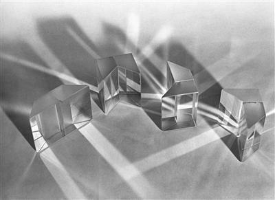 Square Crystal Clusters, 1972. Crystal Clusters Series. By Liliane Lijn
