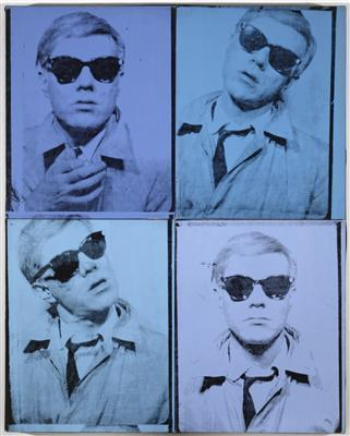 Self-Portrait (four panels), 1963-1964 By Andy Warhol