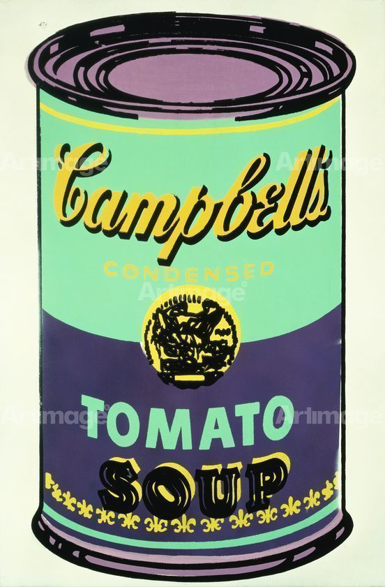 Enlarged version of Colored Campbell's Soup Can, 1965