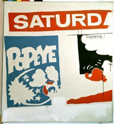 Saturday's Popeye, 1961 By Andy Warhol