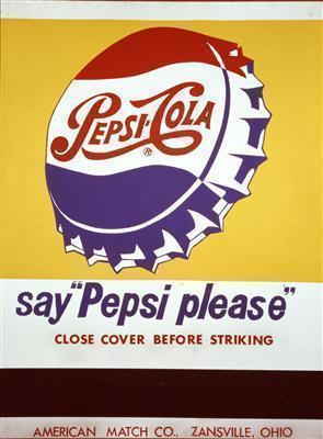 Close Cover Before Striking (Pepsi Cola), 1962 By Andy Warhol