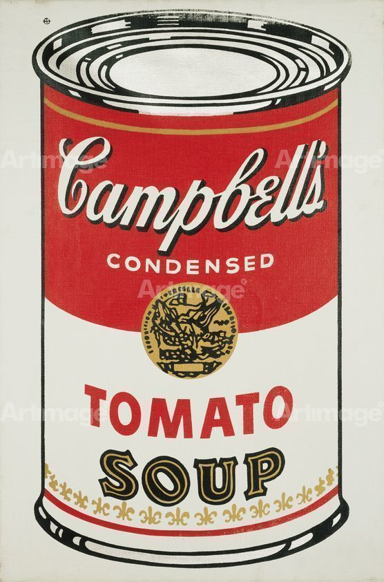 Enlarged version of Campbell's Soup Can (Tomato), 1964