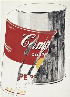 Big Torn Campbell's Soup Can (Pepper Pot), 1962 By Andy Warhol