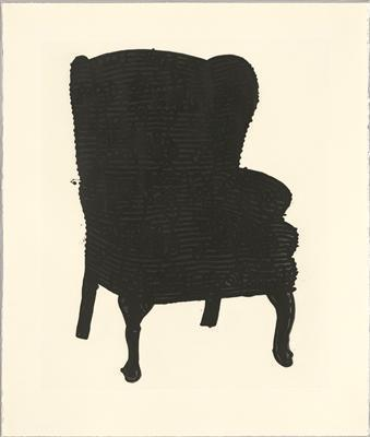 Black Stripey Love Chair, 2006 By Humphrey Ocean