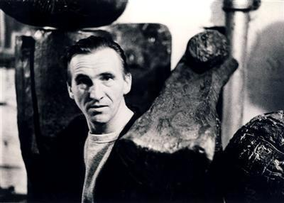 William Turnbull with Works, 1960s