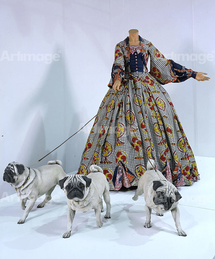 Enlarged version of Leisure Lady (with Pugs), 2001