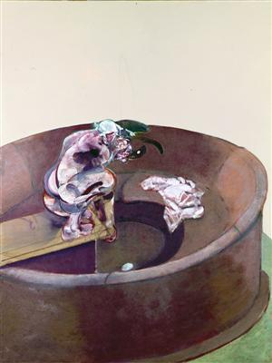 Portrait of George Dyer Crouching, 1966 By Francis Bacon