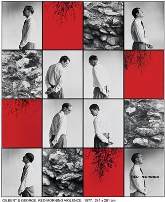 RED MORNING VIOLENCE, 1977 By Gilbert and George