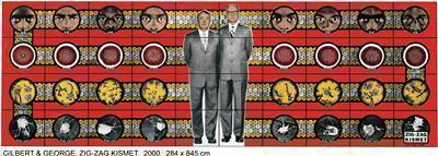 ZIG-ZAG KISMET, 2000 By Gilbert and George